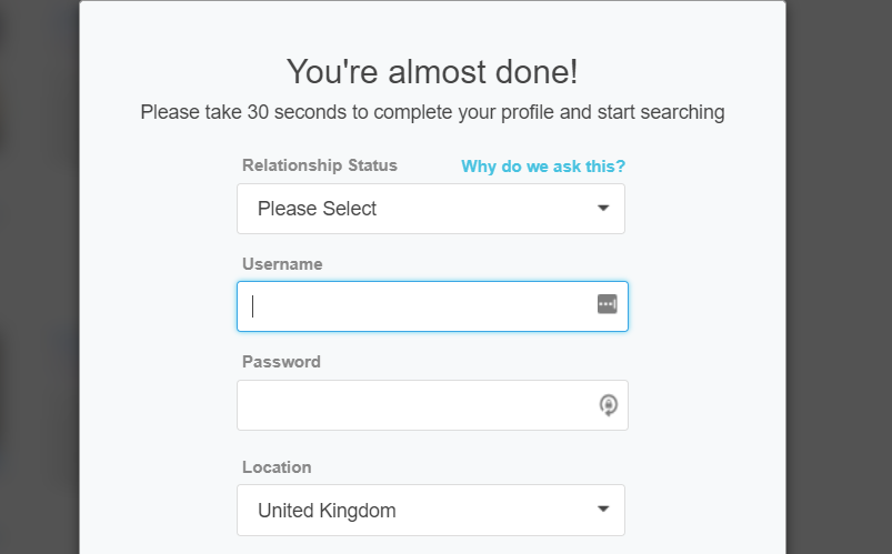 Sign up is as easy as it gets and takes under 1 minute.